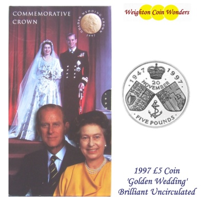 1997 BU £5 Crown Pack - Golden Wedding